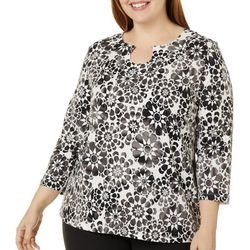 Hearts of Palm Plus Printed Essentials Geo Print Top
