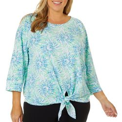 Hearts of Palm Plus Blue Genie Tie Dye Top