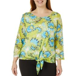 Hearts of Palm Plus In The Limelight Tie Front Top