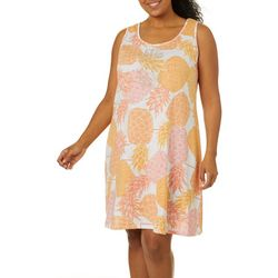 Hearts of Palm Plus Citrus Blast Tropical Dress