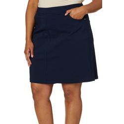 Hearts of Palm Plus Essentials Solid Tech Stretch Skort