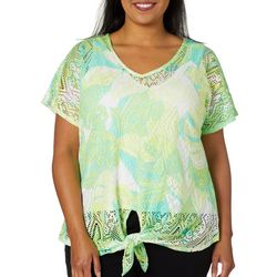 Hearts of Palm Plus Palm Perfect Lace Shell Top