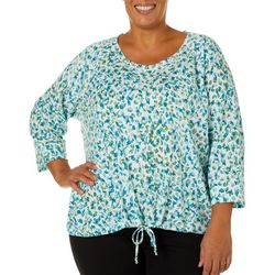 Hearts of Palm Plus Off Tropic Leopard Pull Over Top