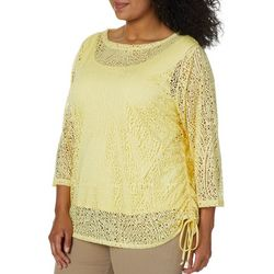 Hearts of Palm Plus Sunny Side Up Side Ruched Top