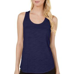 Dept 222 Petite Solid Burnout Scoop Neck Tank Top