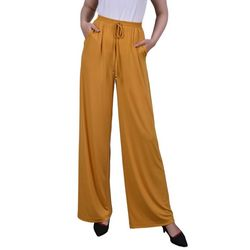 NY Collection Petite Smocked Waist Pants