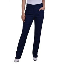 NY Collection Petite Wide Waist Straight Leg Pants