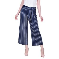 NY Collection Petite Printed Cropped Pants