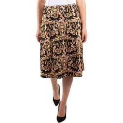 NY Collection Petite A-Line Elastic Waistband Skirt