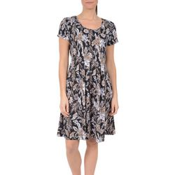 NY Collection Petite Floral Fit and Flare Dress