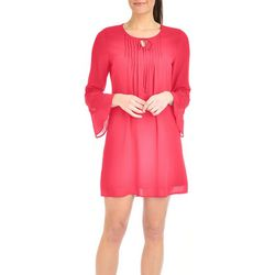 NY Collection Petite Crochet Bell Sleeve Dress