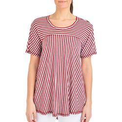 Petite Stripe High-Low Swing Top