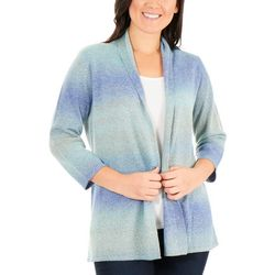 NY Collection Petite Ombre Open Front Cardigan