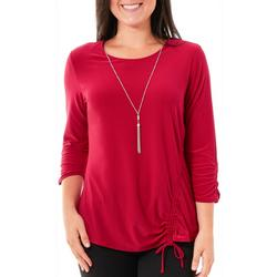 Petite Ruched Necklace Top