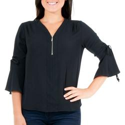 Petite Ruched Bell Sleeve Top