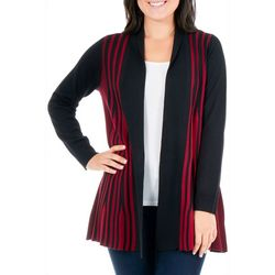NY Collection Petite Textured Rib Knit Cardigan