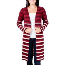 NY Collection Petite Ombre Stripe Duster Cardigan