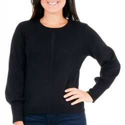 NY Collection Petite Balloon Sleeve Sweater
