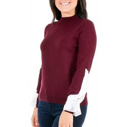 NY Collection Petite Ruffle Sleeve Sweater