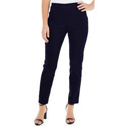 NY Collection Petite Split Waist Slim Fit Pants