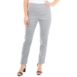 NY Collection Petite Plaid Slim Fit Ankle Pants