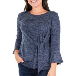 NY Collection Petite Side Tie Bell Sleeve Top