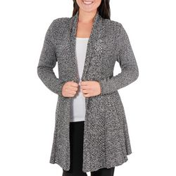 NY Collection Petite Marled Multi-Stitch Cardigan
