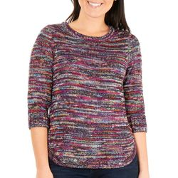 NY Collection Petite Multi-Color Sweater