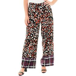 NY Collection Petite Border Print Pants