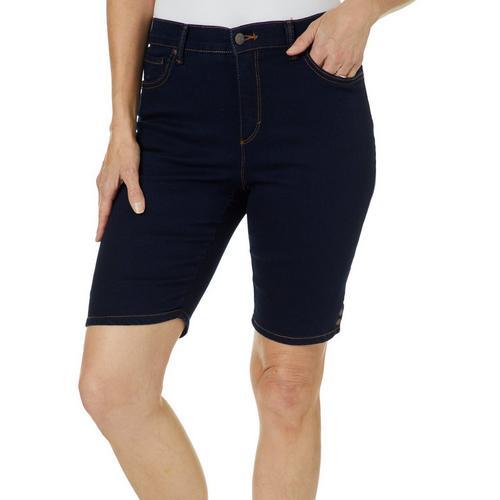 c0ed18df92735 Gloria Vanderbilt Petite Amanda Bermuda Denim Shorts