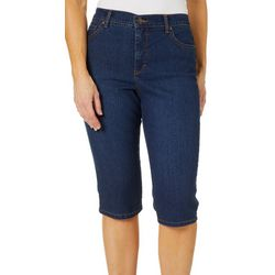 Gloria Vanderbilt Petite Amanda Art Motif Skimmer Shorts