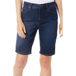 Gloria Vanderbilt Petite Amanda Bermuda Denim Shorts