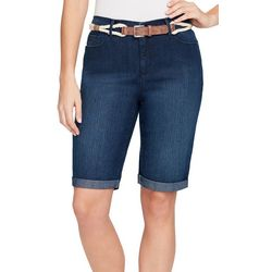 Gloria Vanderbilt Petite Joslyn Braided Belt Bermuda Shorts