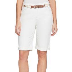 Gloria Vanderbilt Petite Joslyn Braided Belt Bermuda Shorts