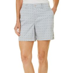 Gloria Vanderbilt Petite Violet Ikat Print Shorts