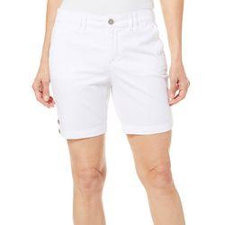 Gloria Vanderbilt Petite Violet Solid Shorts