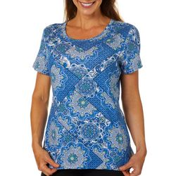 Gloria Vanderbilt Petite Margaret Dreamcatcher Print Top
