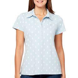 Gloria Vanderbilt Petite Annie Puppy Print Polo Shirt