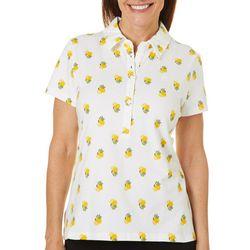 Gloria Vanderbilt Petite Annie Lemons Print Polo Shirt
