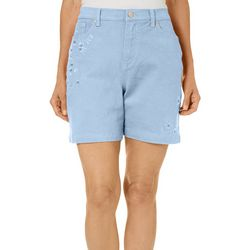 Gloria Vanderbilt Plus Embroidered Amanda Bermuda Shorts