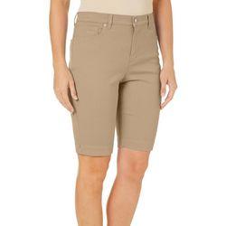 Gloria Vanderbilt Plus Embroidered Amanda Bermuda Shorts