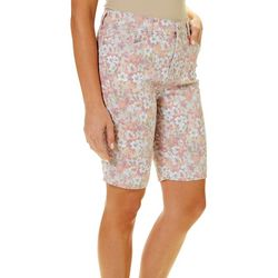 Gloria Vanderbilt Petite Amanda Floral Print Bermuda Shorts