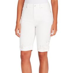Gloria Vanderbilt Petite Amanda Rose Hem Bermuda Shorts