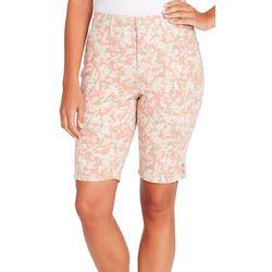 Gloria Vanderbilt Petite Amanda Petal Print Bermuda Shorts