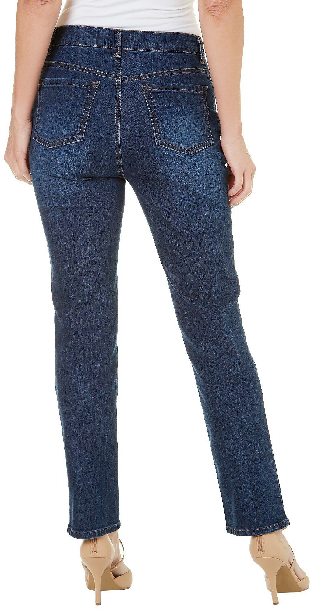 151677ca10df7 Details about Gloria Vanderbilt Petite Amanda Straight Leg Jeans