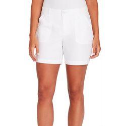 Gloria Vanderbilt Petite Knit Waist Utility Shorts