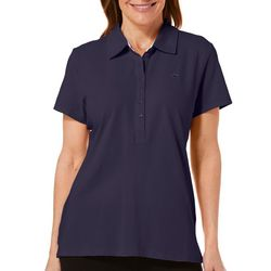 Gloria Vanderbilt Petite Annie Short Sleeve Polo Shirt