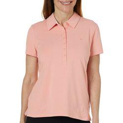 Gloria Vanderbilt Petite Annie Short Sleeve Polo Shirt