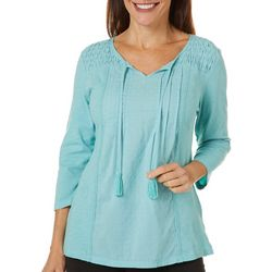 Gloria Vanderbilt Petite Ophelia Embroidered Top