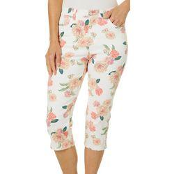 Gloria Vanderbilt Petite Amanda Feminine Floral Capris